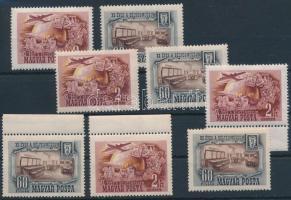 1950 Bélyegmúzeum (I.) 4 db sor (14.000)