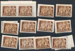 1950 Felszabadulás (II.) 12 db sor, benne összefüggésekkel   (14.400)