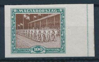 1925 Sport 100K ívszéli vágott bélyeg
