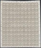 1913 Turul 6f hajtott teljes ívben (40.000) (törések, fogelválások / folds, aparted perfs.)