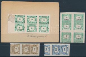 1946 Számlailleték bélyeg próbanyomatok