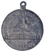 Ausztria 1872. WIENER WELTAUSSTELLUNG - DIE ROTUNDE / ZUR ERINNERUNG AN DIE WIENER WELTAUSSTELLUNG IM JAHRE 1873 ezüstözött Zn emlékérem füllel. Szign.: A. Brunner, J. Necht (33mm) T:2-patina, ph.