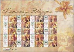 2004 Karácsonyi bélyegem (I.) - Angyalkák promóciós teljes ív sorszámmal (10.000)