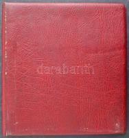 10 db 7 soros 2 oldalas műanyag berakólap bordó Lindner gyűrűs borítóban