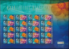 2006 Üdvözlettel bélyegem (III.) - Kék megszemélyesített teljes ív (14.500)