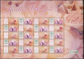 2006 Szerelem bélyegem promóciós teljes ív (11.500)