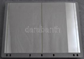 40 db kettes osztású varió fekete víztiszta levél / blokk berakólap újszerű állapotban