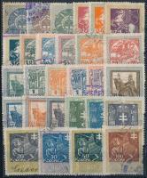 1914 28 db régi magyar okmánybélyeg