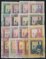 1922-1924 17 db régi magyar okmánybélyeg