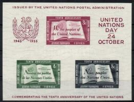 1955 10 éves az ENSZ blokk Mi 1 I