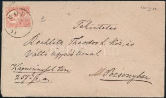 1871 Kőnyomat 5kr levélen MODOR - POZSONY