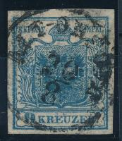 "9kr HP II greyish blue with plate flaw, highlighted middle part  ""ALT-ORSOVA"" Signed: Strakosch, 9kr HP II szürkéskék lemezhibás bélyeg kiemelt középrésszel  ""ALT-ORSOVA"" Signed: Strakosch"