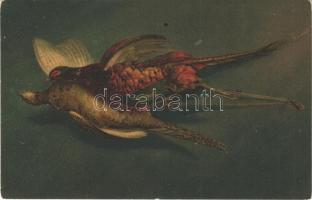 Hunter art postcard. Wenau-Postkarte Pastell No. 601. (fl)