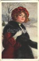 1914 Miss Jack Frost. Lady art postcard. A.R. & C.i.B. s: W. Haskell Coffin (EK)