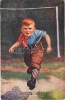 1911 A Dash for the Ball Football art postcard s: E. P. Kinsella