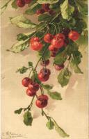 1914 Cherries. G.O.M. 1613. litho s: C. Klein