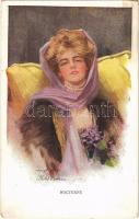 Nocturne Lady art postcard. Reinthal & Newman Pubs. No. 445/6. s: Philip Boileau (EK)