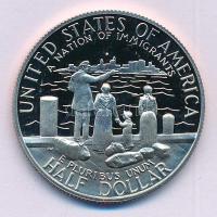 Amerikai Egyesült Államok 1986S 1/2$ Cu-Ni Bevándorlók Nemzete T:PP USA 1986S 1/2 Dollar Cu-Ni A Nation of Immigrants C:PP Krause KM#212