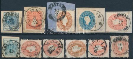 1850-1861 11 db bélyeg közte szép / olvasható bélyegzések