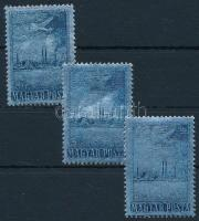 1955 ALUMÍNIUM 3 db bélyeg (10.500)