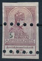 1913 Árvíz I. 5K megsemmisítő lyukasztással