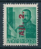 1946 Betűs Ajl.2/12f fordított felülnyomattal (25.000)