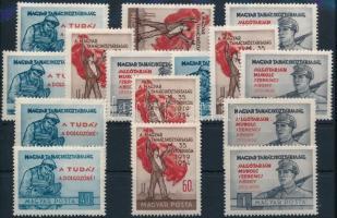 1954 Magyar Tanácsköztársaság III. 5 db sor (10.500)