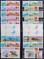 1940-1992 Csaknem kizárólag postatiszta tétel, benne sorok, összefüggések, sok többletpéldány, kevés régi (falcos) kiadással, 9 db berakólapon (120.000)