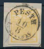 1kr MP Ib golden yellow, on cutting