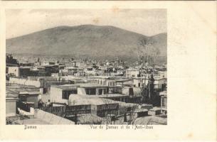 Damascus, Damas; Vue de Damas et de lAnti-liban (fl)