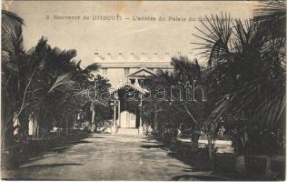 Djibouti, Lentrée du Palais du Gouverneur / Government Palace