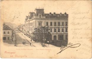 1899 Belgrade, Beograd; Fürst Michael-Strasse / Rue Prince Michael / street view (fl)