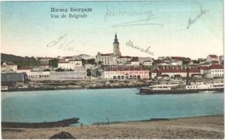 Belgrade, Beograd; general view, steamship (Rb)