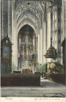 1907 Gdansk, Danzig; Ober-Pfarrkirche zu St. Marien / church, interior (EK)