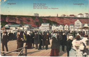 1916 Helgoland, Landungsbrücke / jetty, port (EK)
