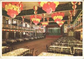 1937 Planegg, Teilansicht der Großgaststätte Volm / restaurant, inn, interior (EK)