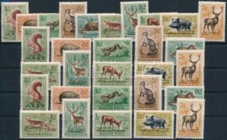 1953 Erdei állatok 3 db sor (13.500)