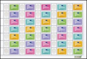 2018 Saját bélyegem - A kulturális örökség európai éve promóciós teljes ív (11.000)