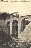 1910 Mariazellerbahn, Mariazeller Bahn; Heubrandgraben-Viadukt bei Puchenstuben / railway bridge, viaduct, train, locomotive (EK)