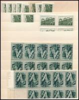 1952 Vasutasnap 14 db sor + Bányásznap I. 29 db sor, köztük összefüggések is (21.500)