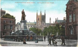 Newcastle, Stephensons Monument, hotel (EK)
