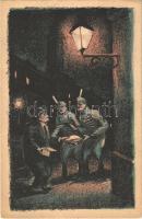 De pénzzel is lehet beszélni! Fehérterror Magyarországon. Verlag der Arbeiter-Buchhandlung / White Terror in Hungary, left-wing propaganda card, Judaica s: Bíró (EK)