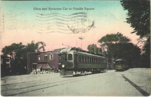 1909 Utica (New York), Syracuse and Utica Car at Oneida Square, train (EK)