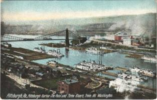 Pittsburgh (Pennsylvania), Pittsburgh Harbor, The Point and Three Rivers from Mt. Washington