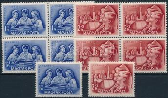1952 Bélyegnap 5 db sor, köztük négyestömbök is (17.500)
