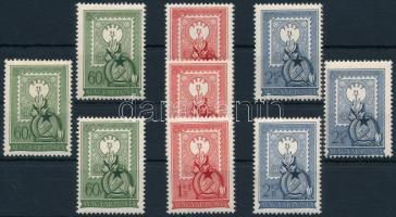 1951 Bélyegnap - 80 éves a magyar bélyeg 3 db sor (12.000)