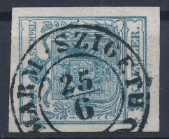 9kr HP IIIa greyish blue, with plate flaw