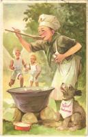 1937 A cserkész híven teljesíti kötelességét. Cserkész levelezőlapok kiadóhivatala / Hungarian boy scout art postcard s: Márton L. (EK)