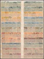 1888-1899 Feketeszámú krajcáros összeállítás 3 kiadás értékeiből, benne vízjelek, szín- és fogazatváltozatok stb., összesen 210 db bélyeg + 2 db vevény 2-2 bélyeggel, A/4-es berakólapon