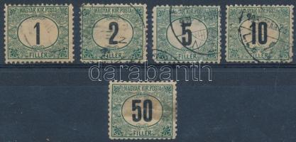 1903 Zöldportó I. B 5 klf bélyeg (min 120.000) (50f javított / repaired)